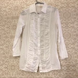 Sundance 100% Cotton Button Blouse
